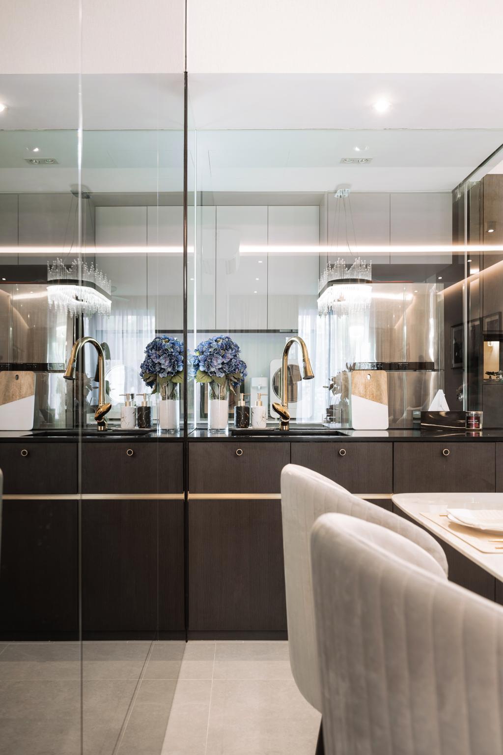 Modern, Condo, Dining Room, Kovan Melody, Interior Designer, Mr Shopper Studio, Contemporary