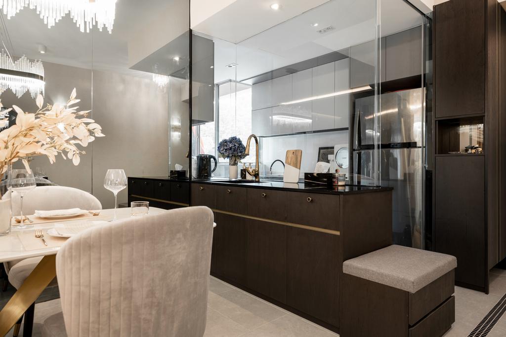 Modern, Condo, Kitchen, Kovan Melody, Interior Designer, Mr Shopper Studio, Contemporary