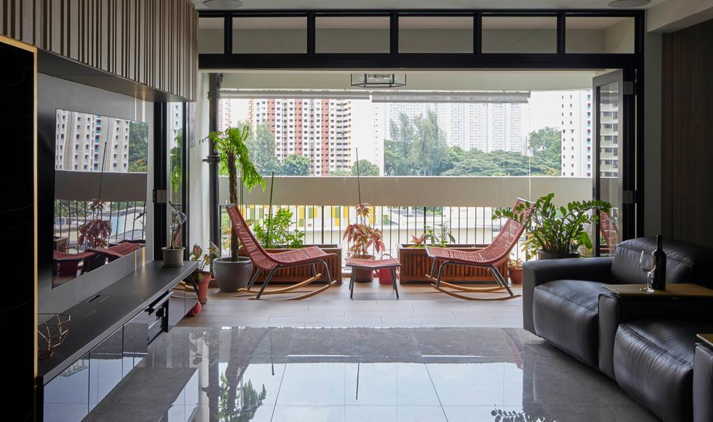 Modern, HDB, Balcony, Kim Tian Place, Interior Designer, The Interior Lab, Contemporary