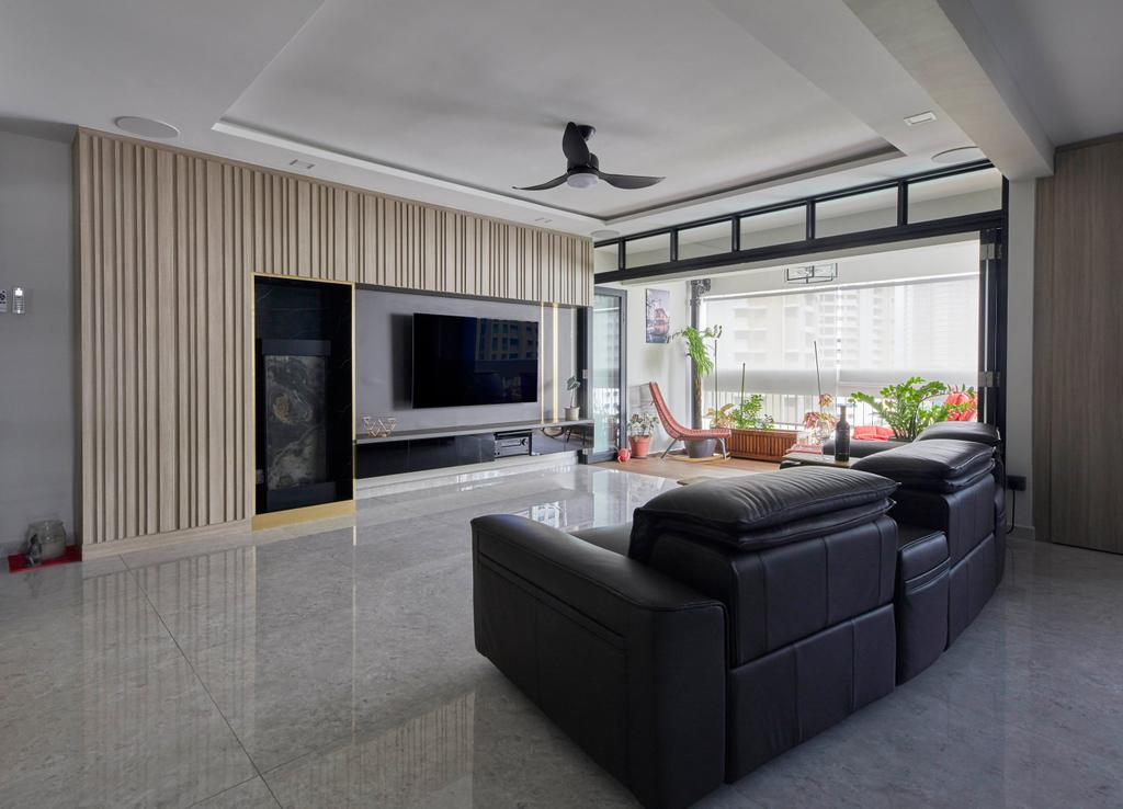 Modern, HDB, Living Room, Kim Tian Place, Interior Designer, The Interior Lab, Contemporary