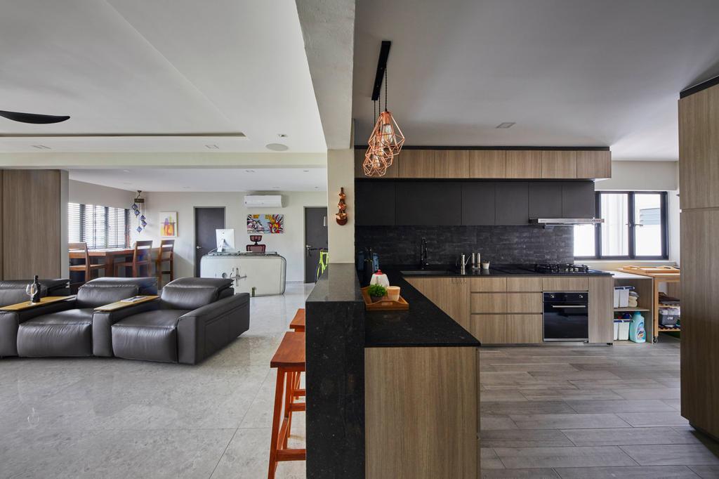Modern, HDB, Kitchen, Kim Tian Place, Interior Designer, The Interior Lab, Contemporary