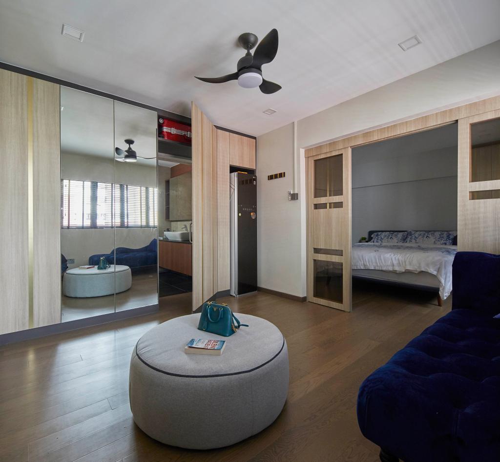 Modern, HDB, Bedroom, Kim Tian Place, Interior Designer, The Interior Lab, Contemporary