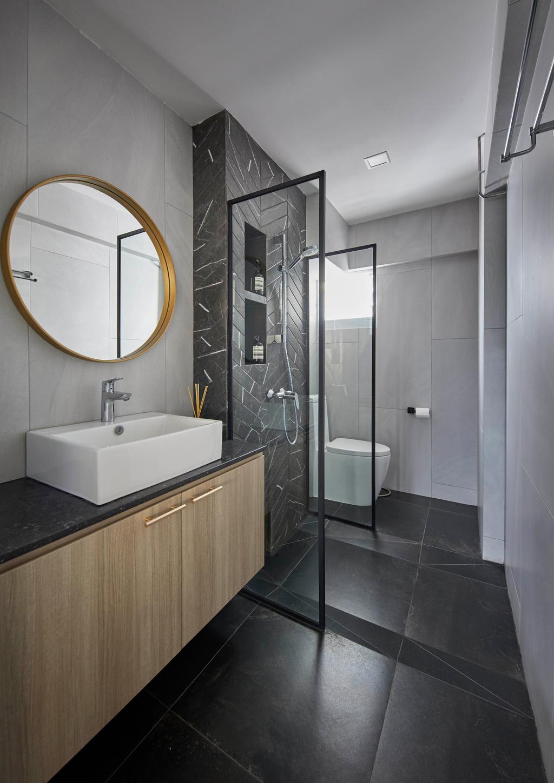 Modern, HDB, Bathroom, Kim Tian Place, Interior Designer, The Interior Lab, Contemporary