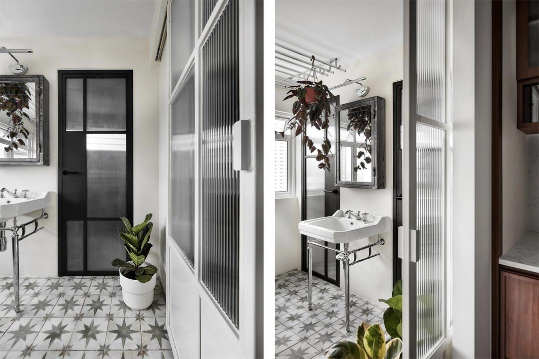 fluted glass interior design singapore home carpentry