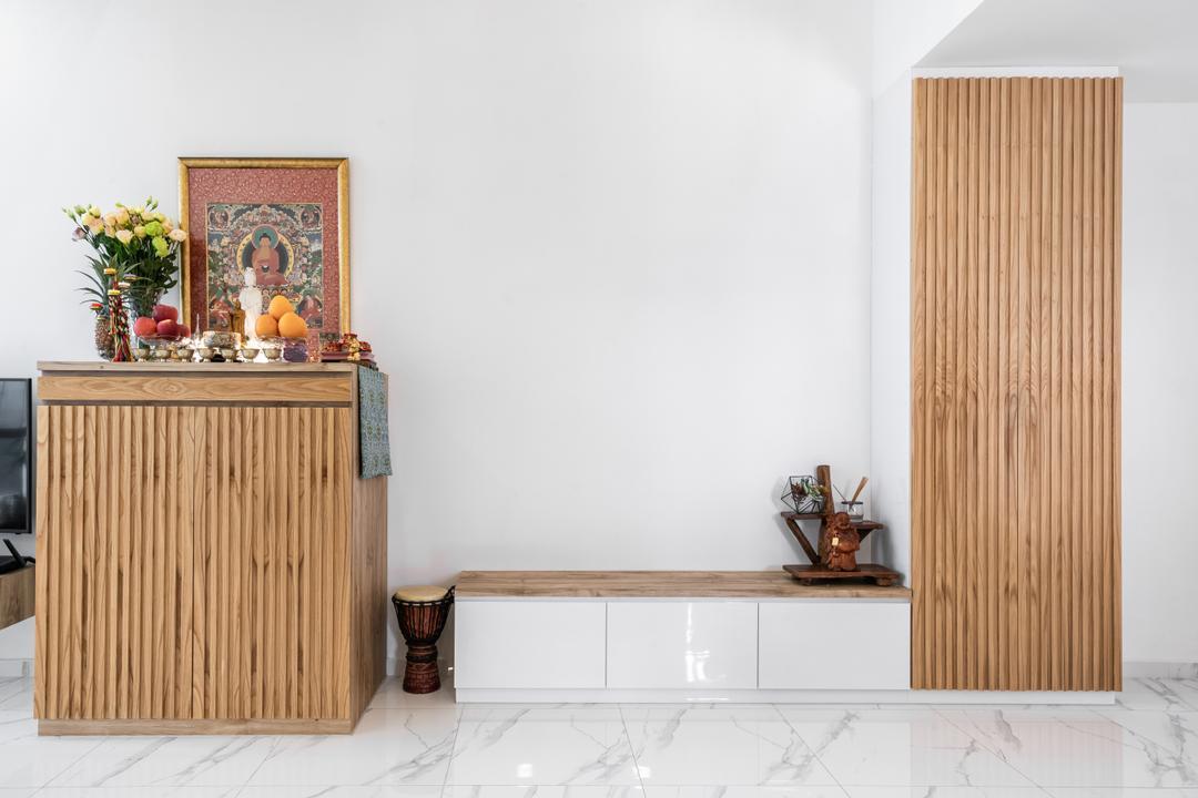 Regent Heights, Azcendant, Modern, Contemporary, Living Room, Condo, Altar