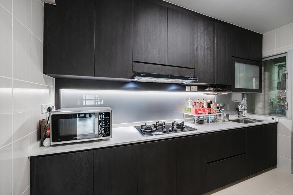 Contemporary, HDB, Kitchen, Woodlands Crescent, Interior Designer, Azcendant