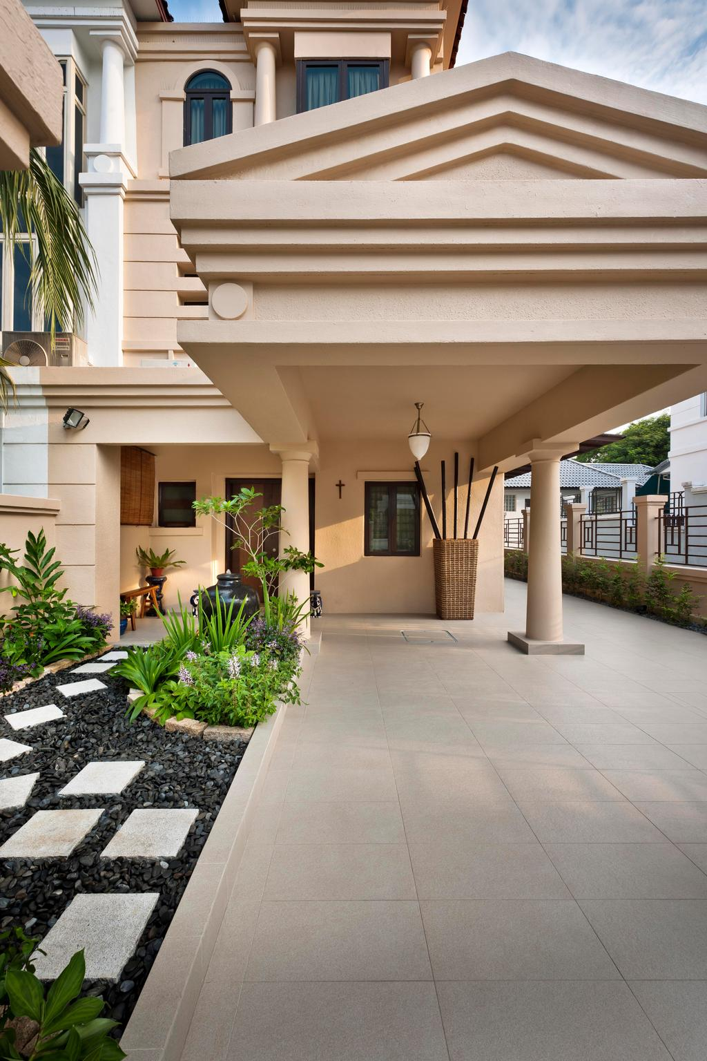 Traditional, Landed, Park Villas, Interior Designer, Space Factor, Flora, Jar, Plant, Potted Plant, Pottery, Vase, Building, House, Housing, Villa