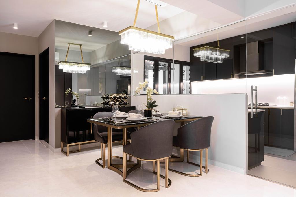 Modern, HDB, Dining Room, Tampines GreenWeave, Interior Designer, Mr Shopper Studio, Minimalistic