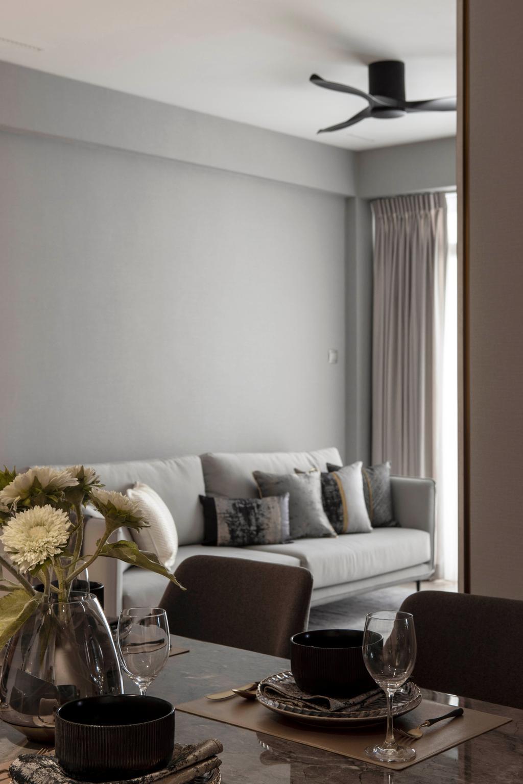 Contemporary, Condo, Living Room, Sunville, Interior Designer, 19 Eighty Three, Scandinavian