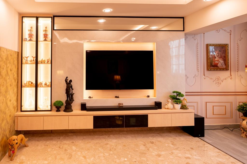 Transitional, HDB, Living Room, Ubi Avenue 1, Interior Designer, ChengYi Interior Design