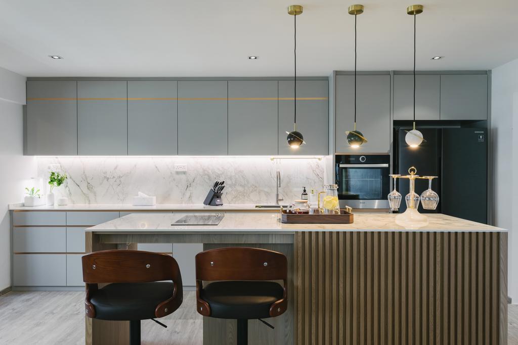 Contemporary, HDB, Kitchen, Pasir Ris Street 21, Interior Designer, Posh Home, Modern