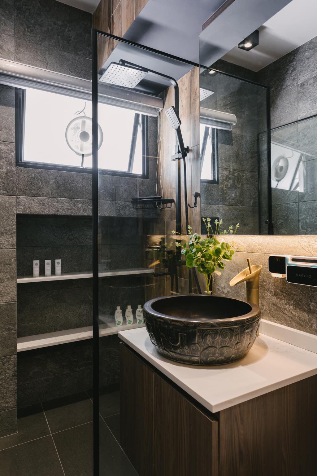 Contemporary, HDB, Bathroom, Pasir Ris Street 21, Interior Designer, Posh Home, Modern
