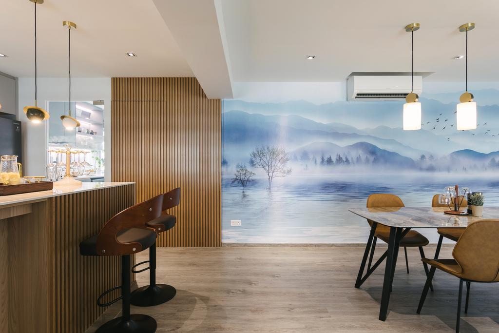 Contemporary, HDB, Dining Room, Pasir Ris Street 21, Interior Designer, Posh Home, Modern