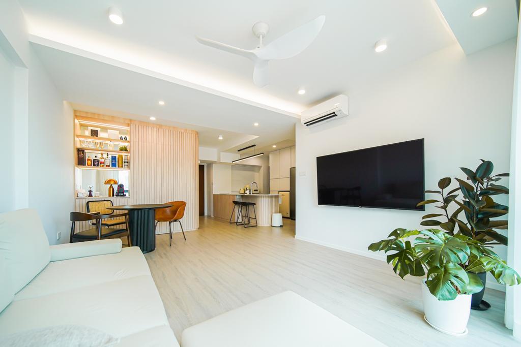Scandinavian, HDB, Living Room, Cantonment Road, Interior Designer, Albedo Design