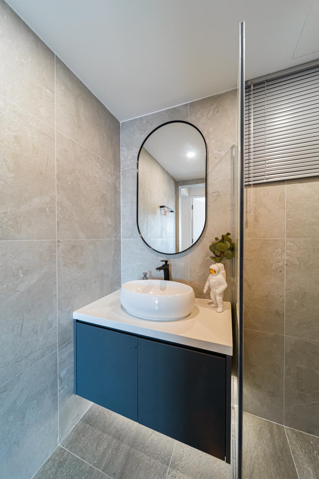 Scandinavian, HDB, Bathroom, Cantonment Road, Interior Designer, Albedo Design