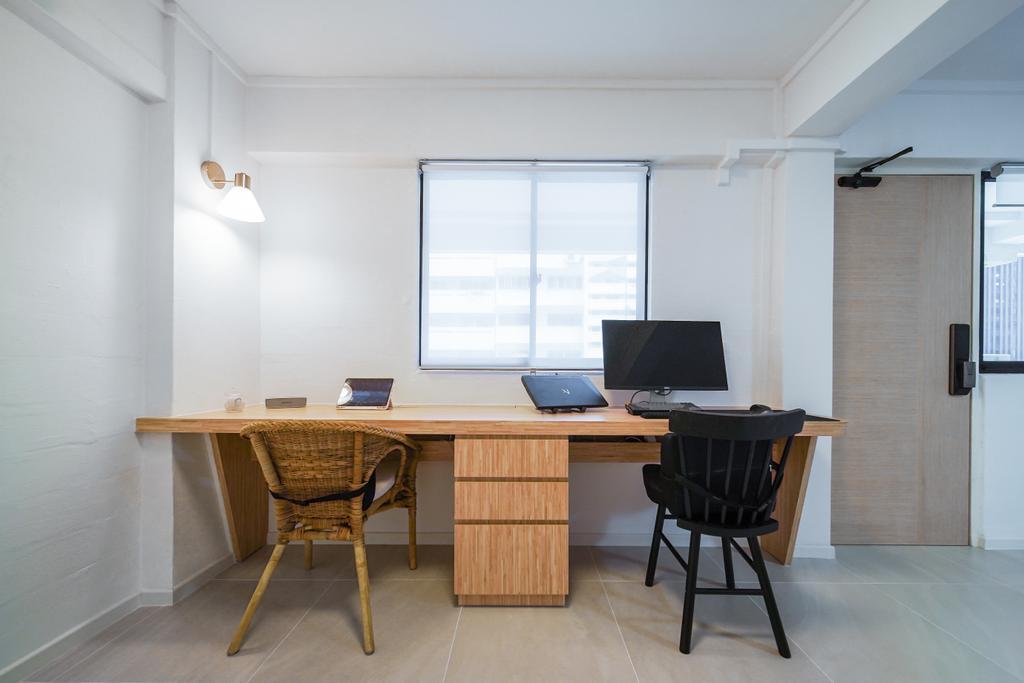 Contemporary, HDB, Study, Tanjong Pagar Plaza, Interior Designer, Albedo Design