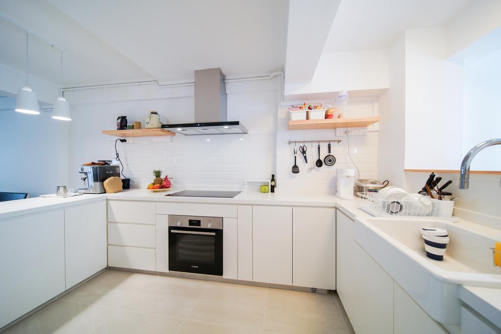 Contemporary, HDB, Kitchen, Tanjong Pagar Plaza, Interior Designer, Albedo Design