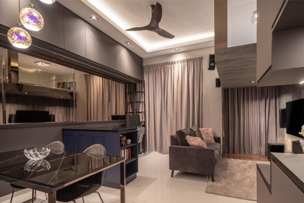 Contemporary, Condo, Living Room, The Skywoods, Interior Designer, Albedo Design