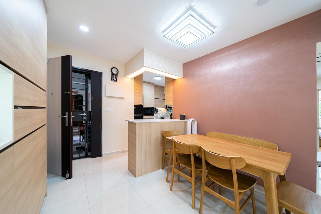 Contemporary, HDB, Dining Room, Fernvale Road, Interior Designer, Albedo Design, Minimalistic