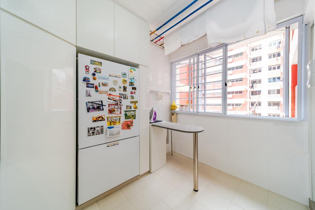 Contemporary, HDB, Kitchen, Hougang Avenue 8, Interior Designer, Albedo Design