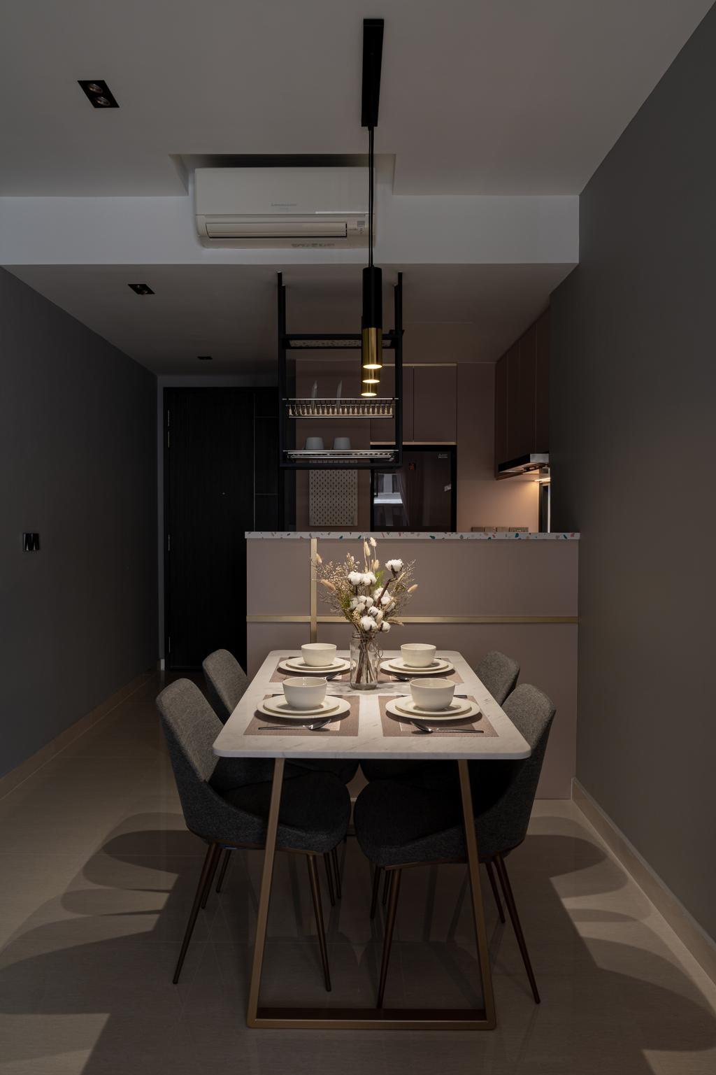 Modern, Condo, Dining Room, Jewel @ Buangkok, Interior Designer, Insight.Out Studio, Contemporary