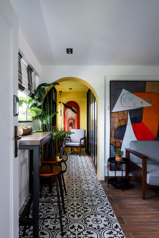 Retro, HDB, Living Room, Telok Blangah Way, Interior Designer, Insight.Out Studio, Eclectic, Transitional