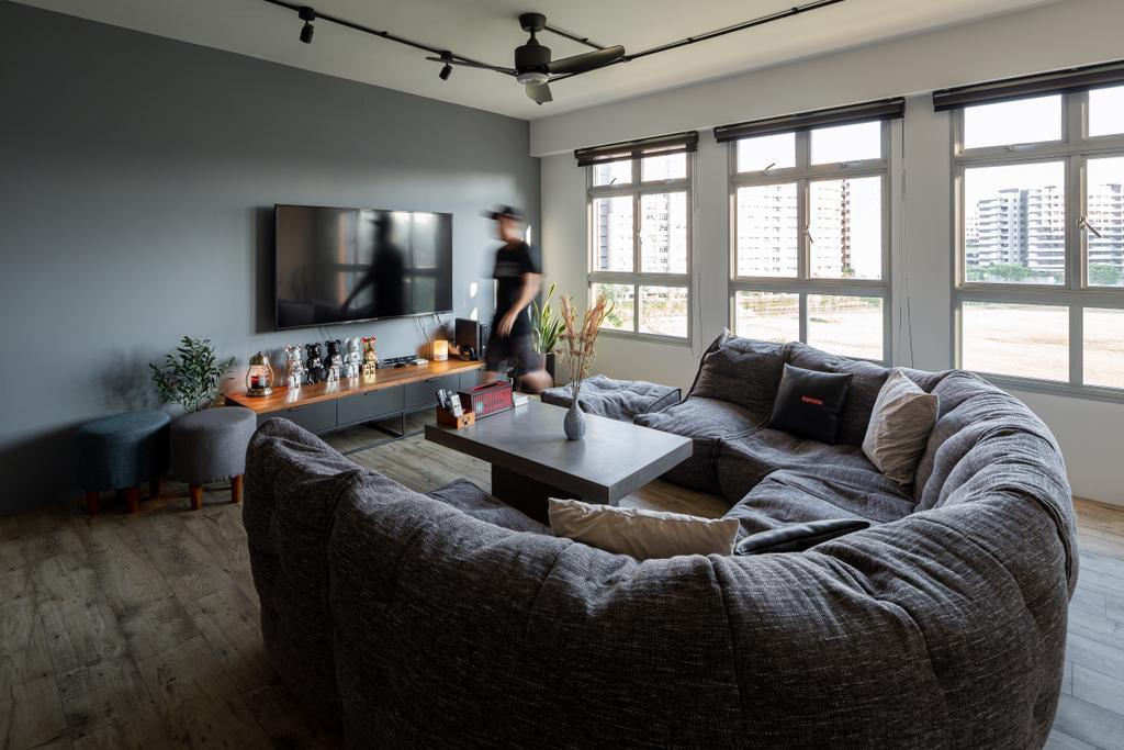 Industrial, HDB, Living Room, Canberra Walk (Block 108), Interior Designer, Insight.Out Studio