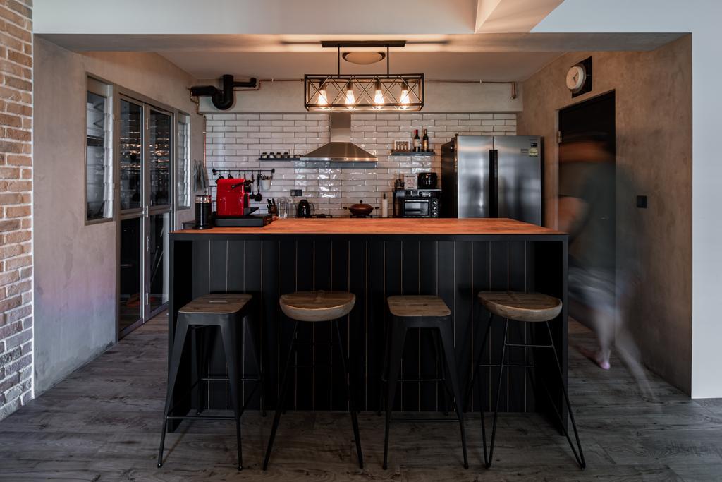 Industrial, HDB, Kitchen, Canberra Walk (Block 108), Interior Designer, Insight.Out Studio