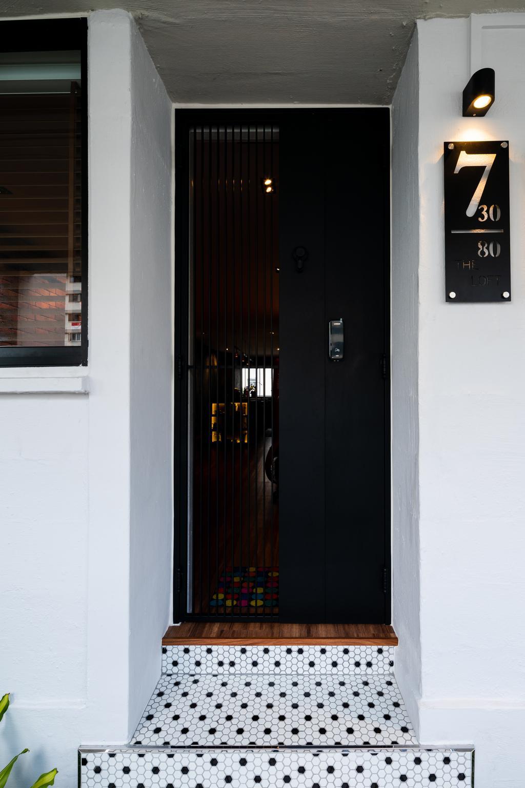 Industrial, HDB, Living Room, Geylang Bahru, Interior Designer, Insight.Out Studio, Vintage, Door, Entrance, Gate