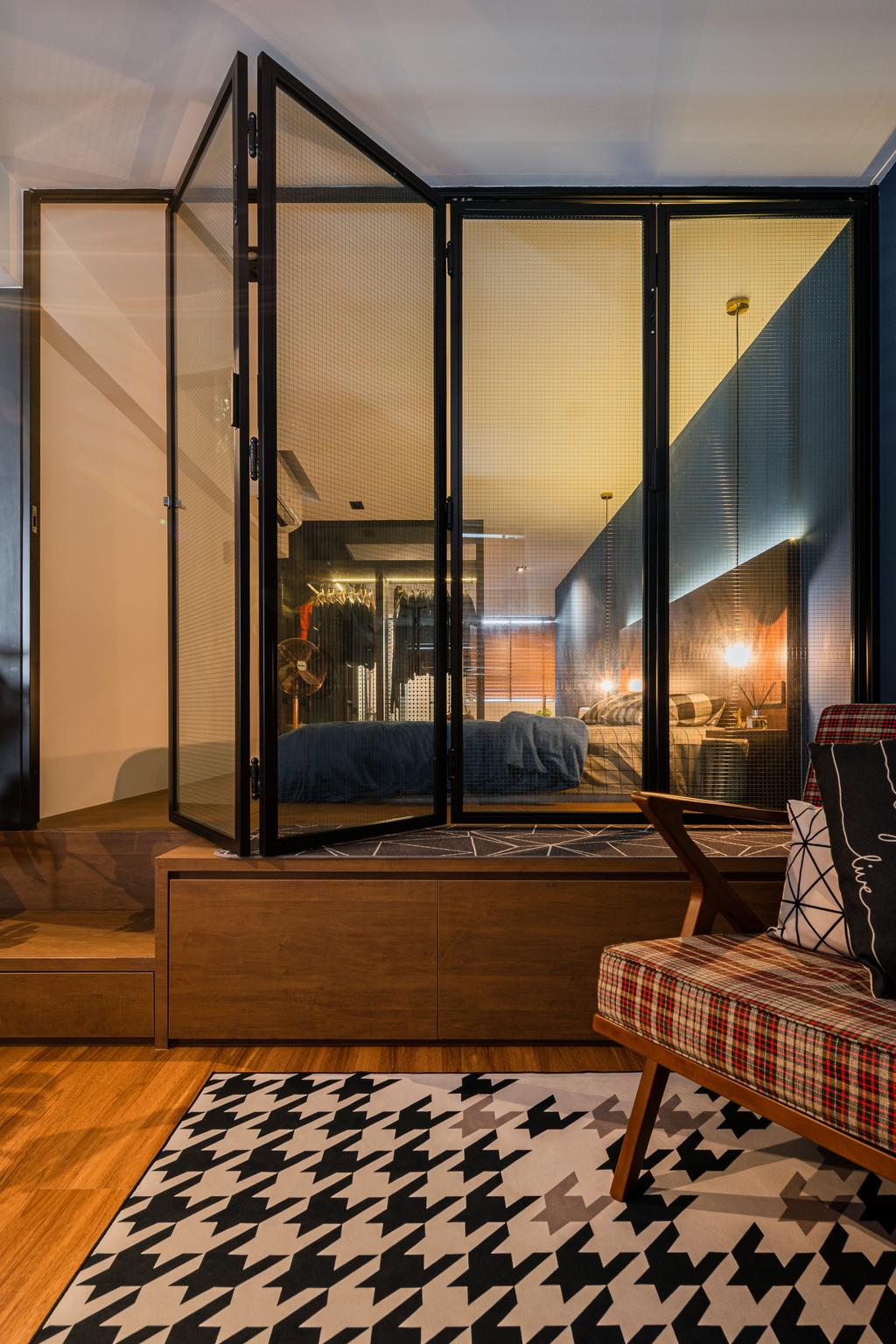 Industrial, HDB, Bedroom, Geylang Bahru, Interior Designer, Insight.Out Studio, Vintage
