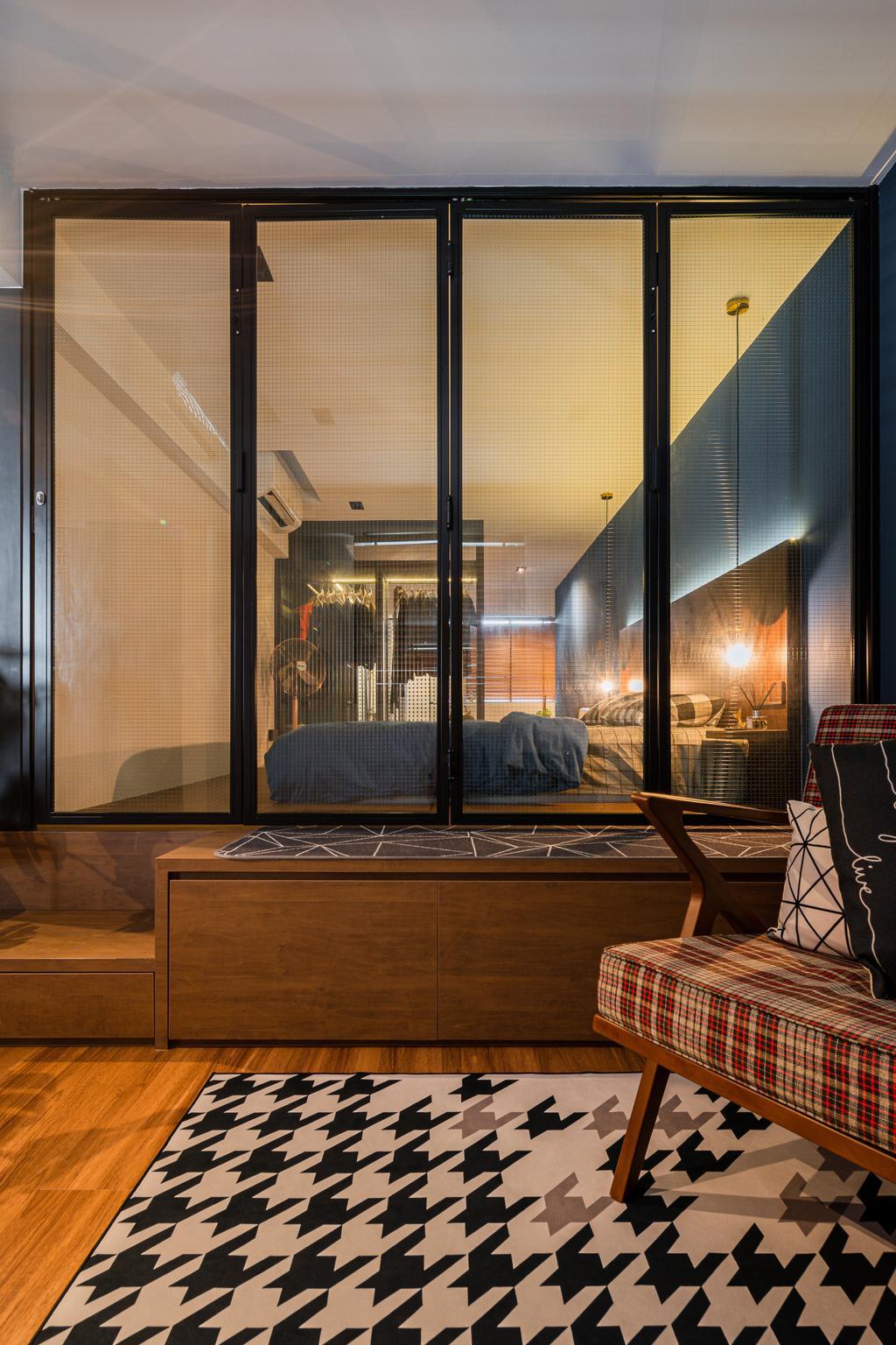 Industrial, HDB, Bedroom, Geylang Bahru, Interior Designer, Insight.Out Studio, Vintage, Platform Bed