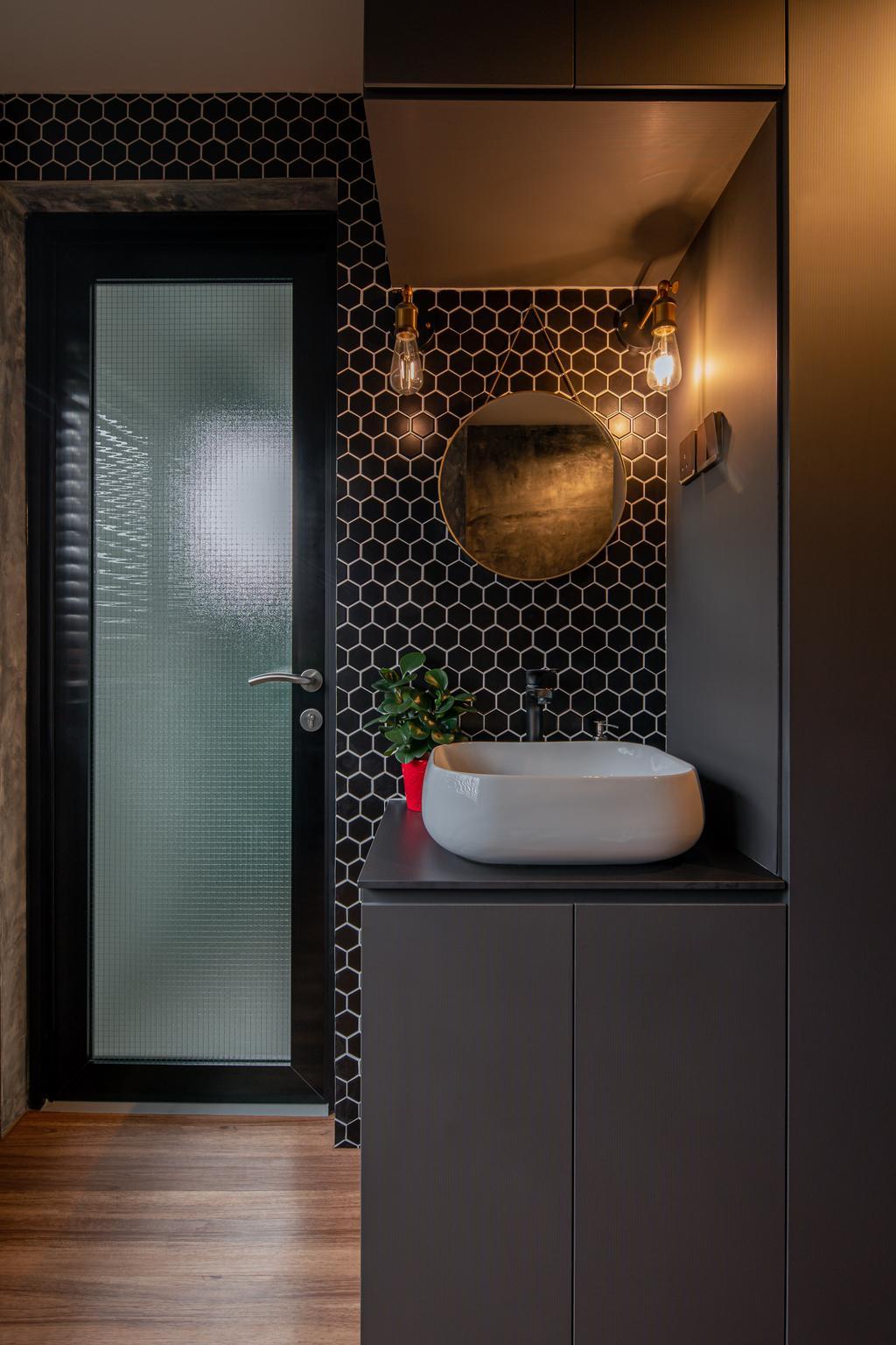 Industrial, HDB, Bathroom, Geylang Bahru, Interior Designer, Insight.Out Studio, Vintage