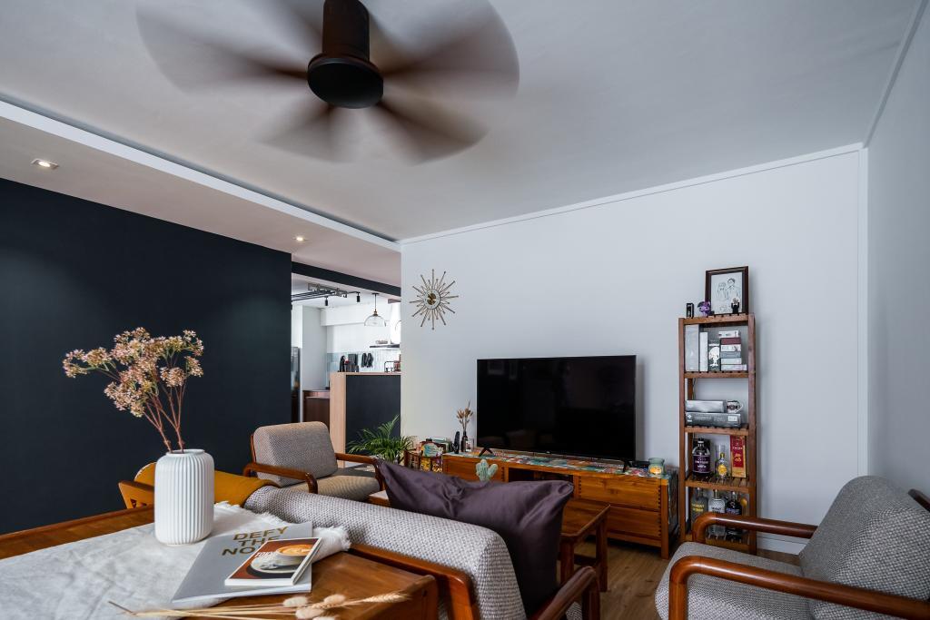Retro, HDB, Living Room, Senja Road, Interior Designer, Insight.Out Studio