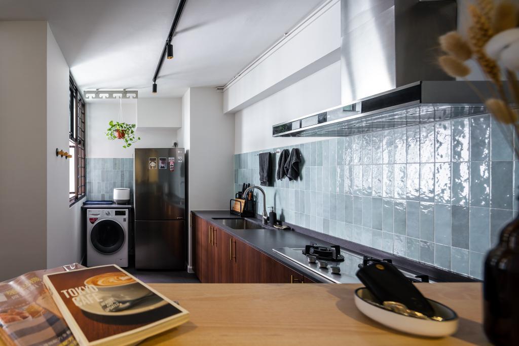Retro, HDB, Kitchen, Senja Road, Interior Designer, Insight.Out Studio