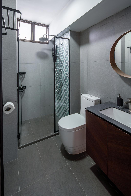 Retro, HDB, Bathroom, Senja Road, Interior Designer, Insight.Out Studio