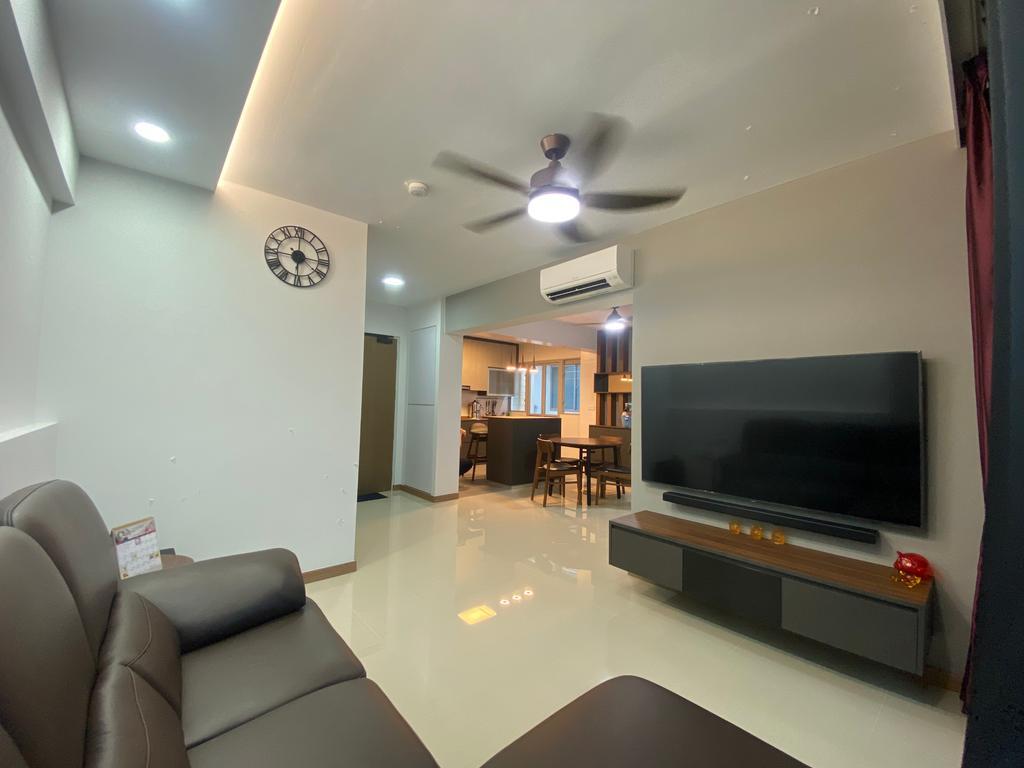 Modern, HDB, Living Room, Bidadari Park Drive, Interior Designer, Sky Creation Asia