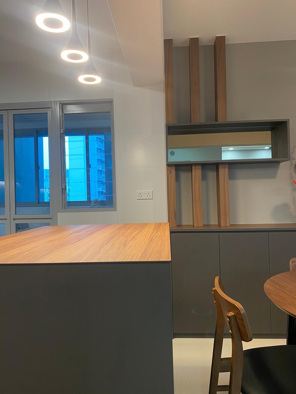 Modern, HDB, Dining Room, Bidadari Park Drive, Interior Designer, Sky Creation Asia