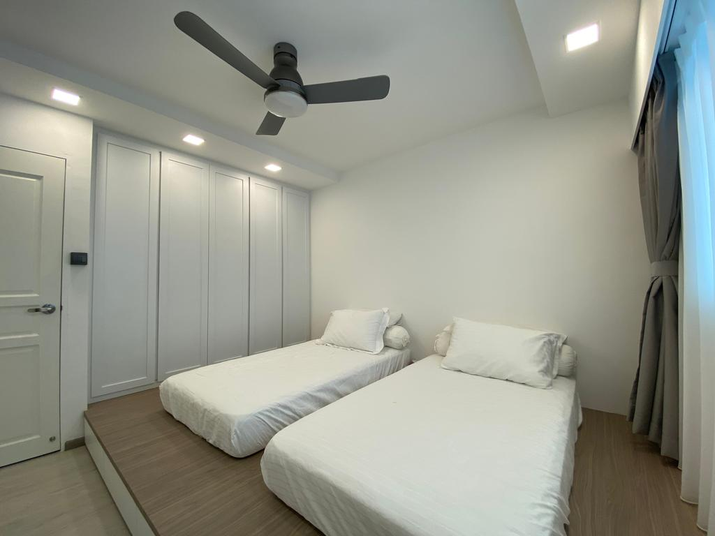 Minimalistic, HDB, Bedroom, Jurong West Street 41, Interior Designer, Sky Creation Asia