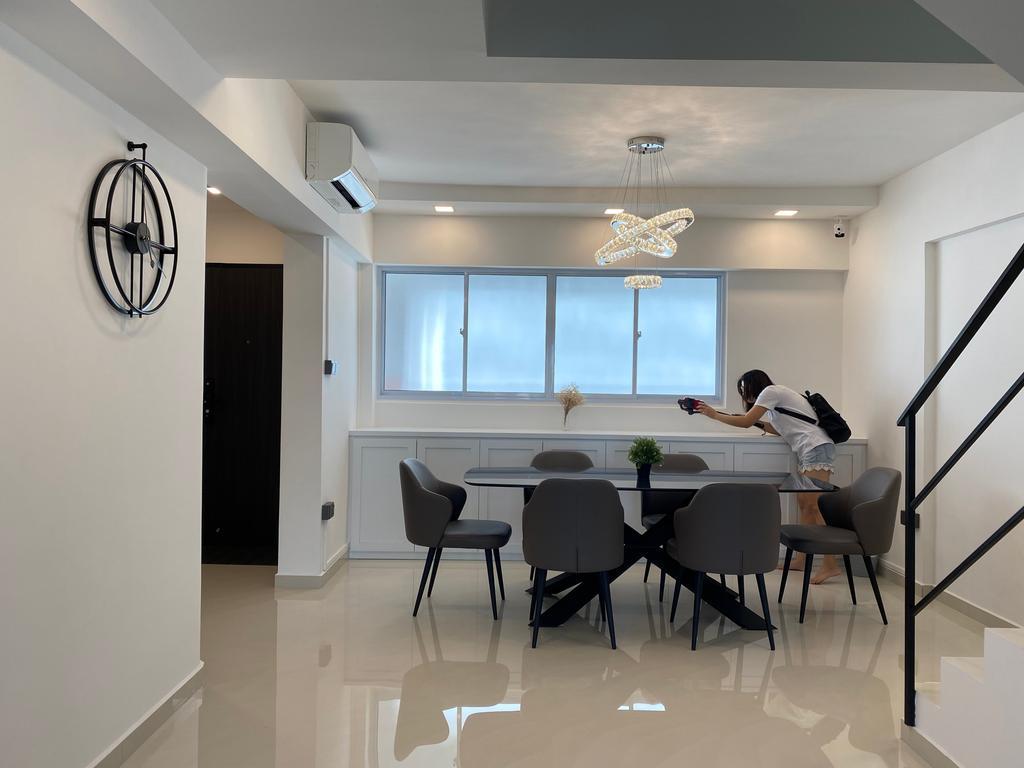 Minimalistic, HDB, Dining Room, Jurong West Street 41, Interior Designer, Sky Creation Asia