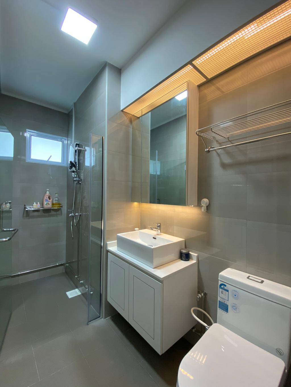 Minimalistic, HDB, Bathroom, Jurong West Street 41, Interior Designer, Sky Creation Asia