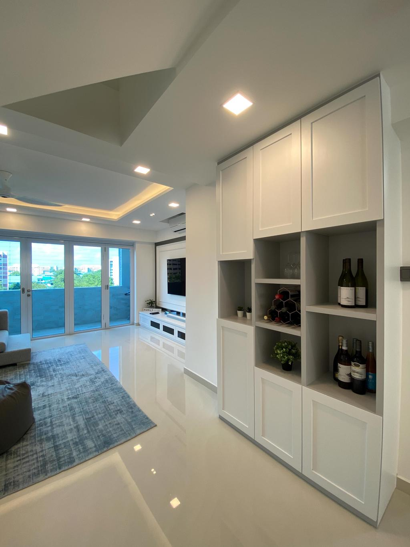 Minimalistic, HDB, Living Room, Jurong West Street 41, Interior Designer, Sky Creation Asia