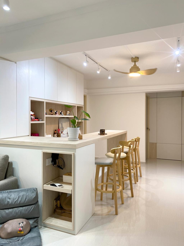 Scandinavian, HDB, Dining Room, Jurong West Street 91, Interior Designer, Sky Creation Asia, Minimalistic