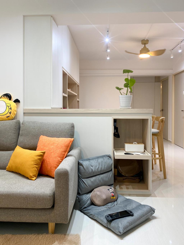 Scandinavian, HDB, Living Room, Jurong West Street 91, Interior Designer, Sky Creation Asia, Minimalistic