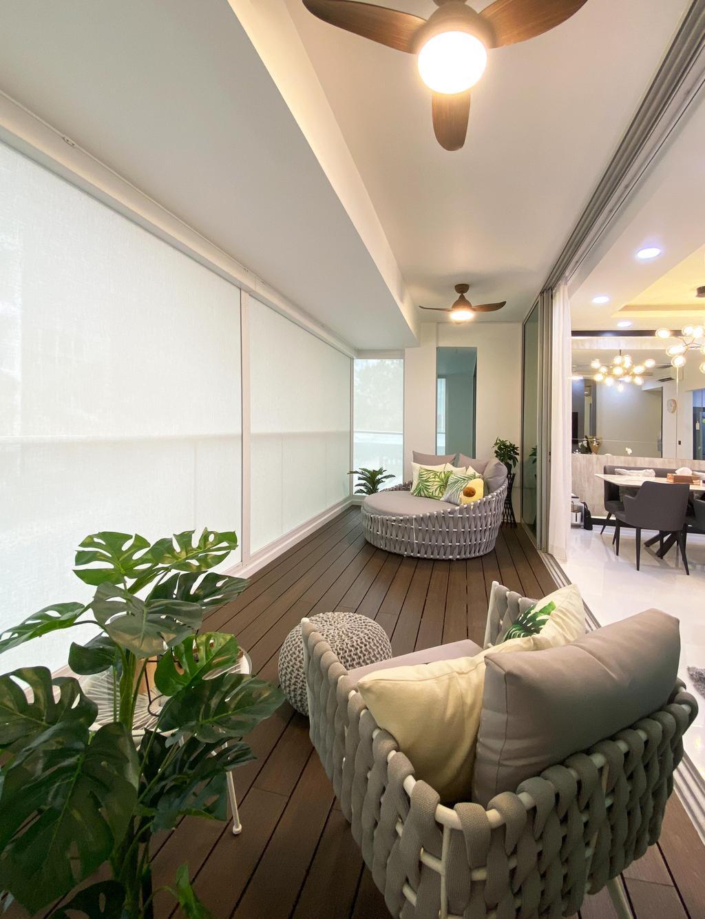 Contemporary, Condo, Balcony, Kovan Residences, Interior Designer, Sky Creation Asia