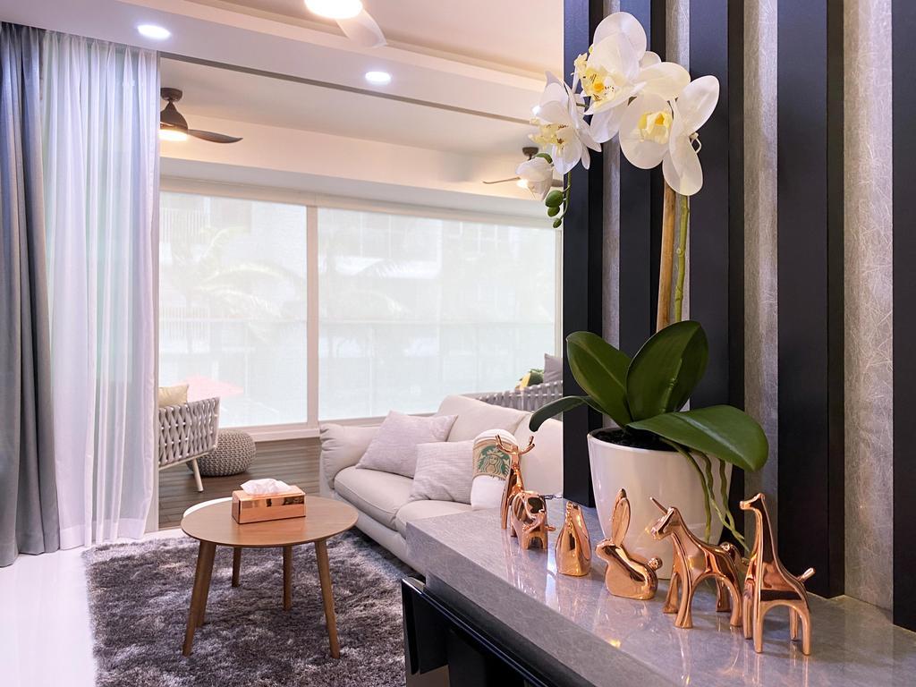 Contemporary, Condo, Living Room, Kovan Residences, Interior Designer, Sky Creation Asia
