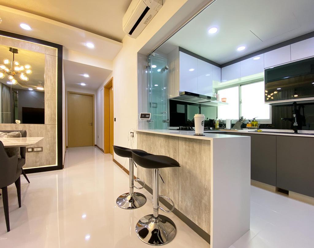 Contemporary, Condo, Kitchen, Kovan Residences, Interior Designer, Sky Creation Asia