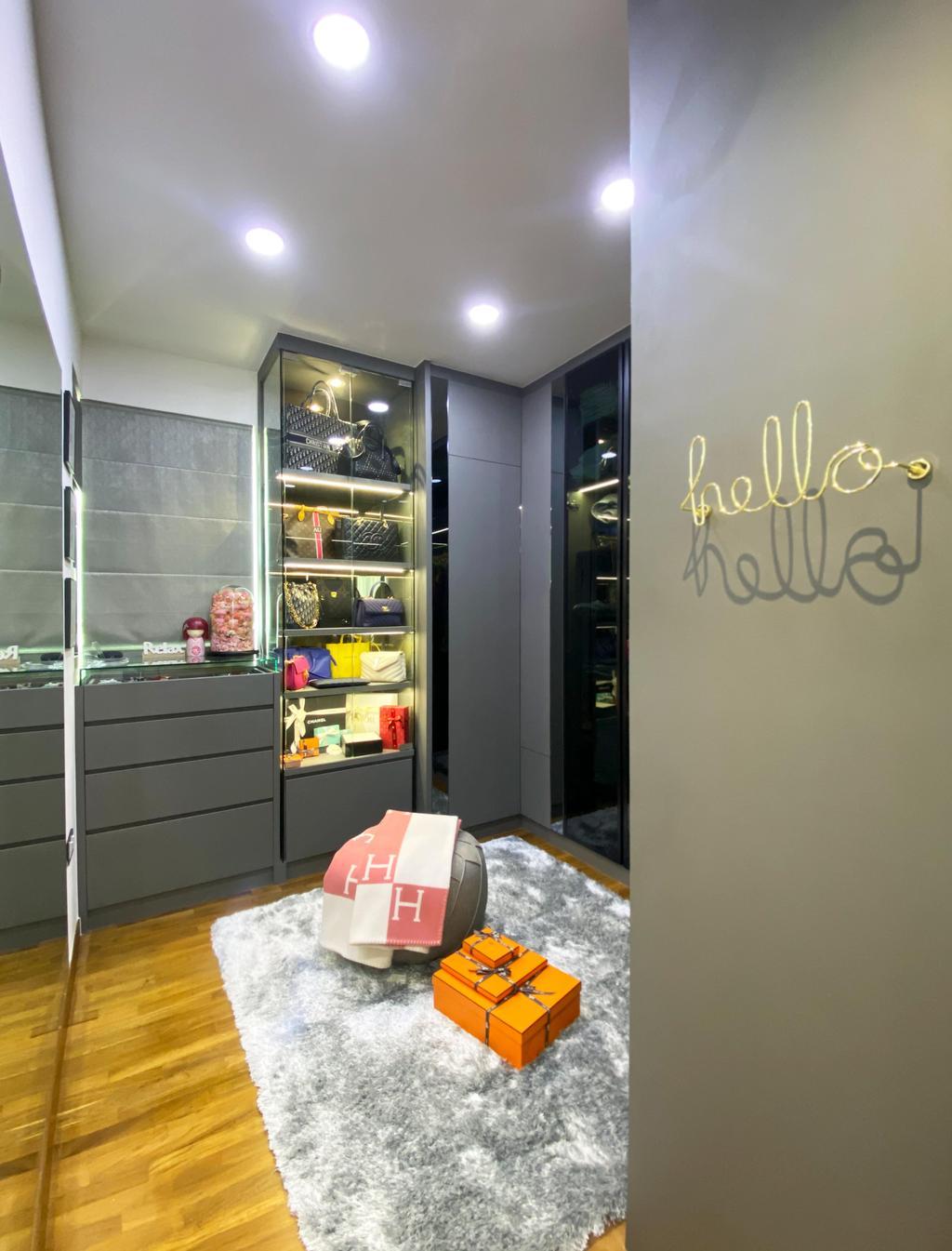 Contemporary, Condo, Bedroom, Kovan Residences, Interior Designer, Sky Creation Asia