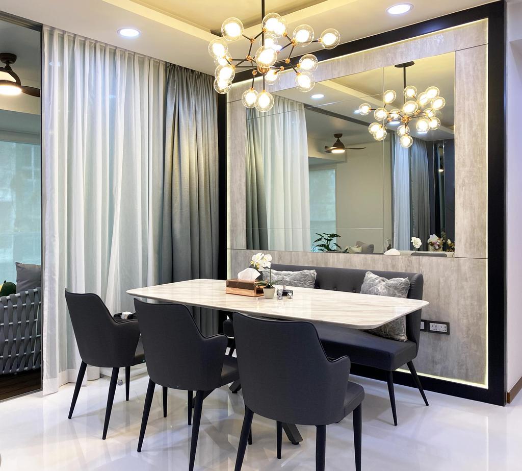 Contemporary, Condo, Dining Room, Kovan Residences, Interior Designer, Sky Creation Asia