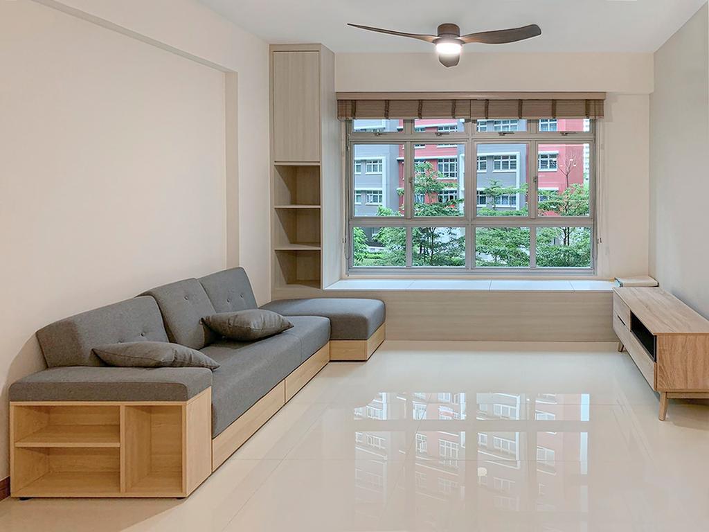 Modern, HDB, Living Room, West Ridges @ Bukit Batok, Interior Designer, Sky Creation Asia, Scandinavian