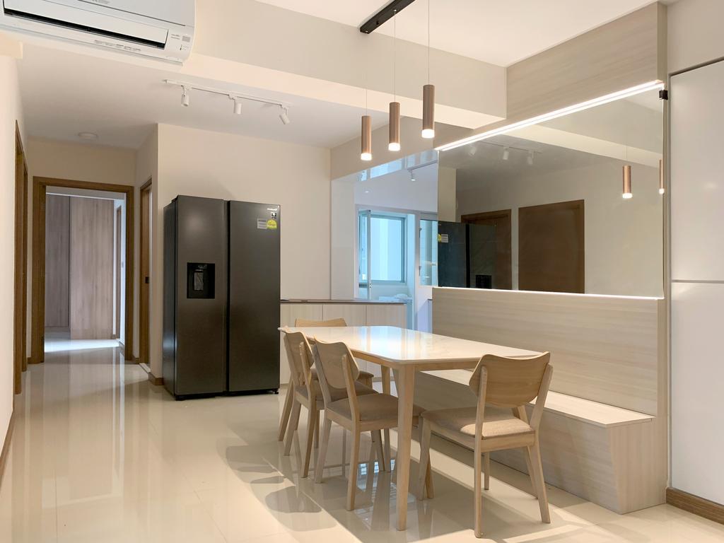 Modern, HDB, Dining Room, West Ridges @ Bukit Batok, Interior Designer, Sky Creation Asia, Scandinavian
